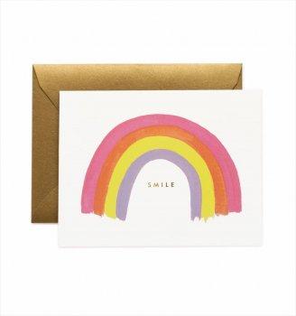 【RIFLE PAPER】ベイビーカード/Smile Rainbow(スマイルレインボー) (GCM134)