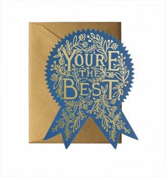 【RIFLE PAPER】ウェルネスカード/You're The Best(ベストエンブレム) (GCM110)