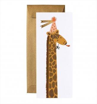 【RIFLE PAPER】ランドスケープカード/Giraffe Birthday(きりん・バースデー) (G1B006)