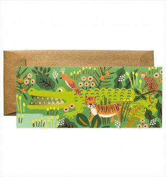 【RIFLE PAPER】ランドスケープカード/Alligator Birthday(わに・バースデー) (G1B005)