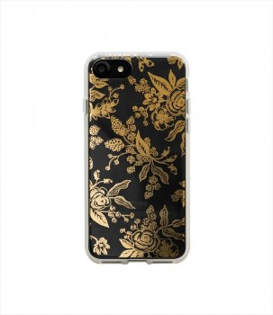 【RIFLE PAPER】iPhone7ケース / Clear Gold Floral Toile  (ゴールドトワレ) (PIC050-7T)