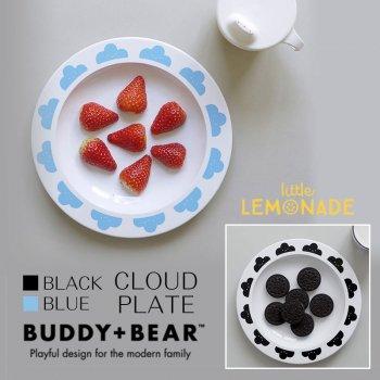 【BUDDY+BEAR バディーアンドベアー】ハッピークラウズ くも柄 クラウド お皿 プレート(ブラック:BBTW010 ブルー:BBTW004)