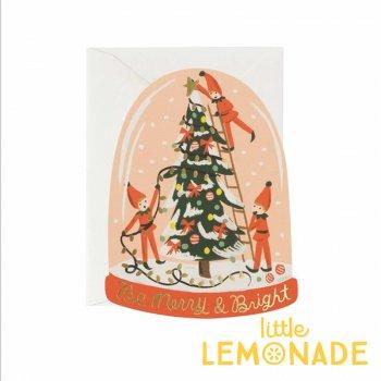【RIFLE PAPER ライフルペーパー】クリスマス カード / エルフドーム(GCX042)