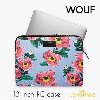 【WOUF】13インチ PCケース 【Flowers】 パソコン用スリーブ Macbook Pro 13inch PC Sleeve WOOUF!(S170010)
