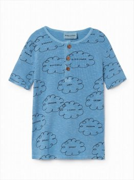 【BOBO CHOSES】 Clouds Buttons 半袖Tシャツ 【2-3歳/4-5歳】  T-Shirt SS SALE YKZ