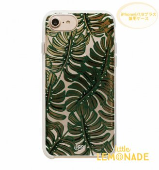 【RIFLE PAPER】iPhone6/7/8Plus兼用ケース / CLEAR MONSTERA(クリアモンステラ)(PIC056-678P) SALE
