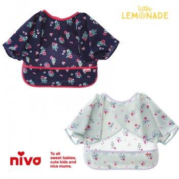 【niva】nivaのおでかけスタイ☆Flower(花柄)グリーン/ネイビー【おしゃれスタイ 花柄 出産祝い】(206GRN/206NVY)