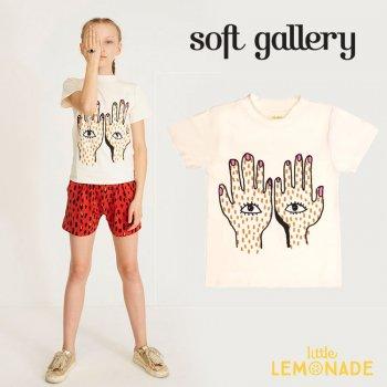 【Soft gallery】目と手の柄 半袖 Tシャツ 3歳/4歳/6歳/8歳/12歳 SS (332610381)  YKZ SALE
