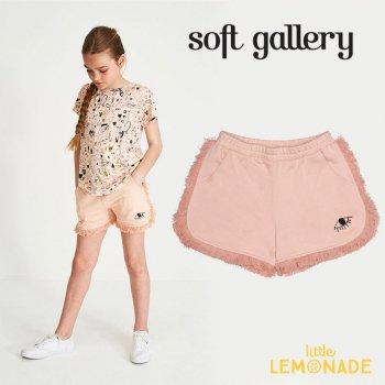 【Soft gallery】 フリンジ付きショートパンツ 【3歳/5歳】 コットン100% ピンク キッズ 子供服 パンツ (049-137-444)  SS SALE YKZ
