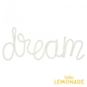 【Meri Meri メリメリ】ウールモレター DREAM オブジェ クリーム色 (30-0236/173413)