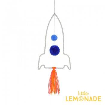 【Meri Meri メリメリ】ウールモビール ロケット ハンギングデコレーション(30-0237/173422)