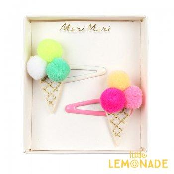 【Meri Meri メリメリ】ヘアクリップ ポンポンのアイスクリーム(50-0294/171829)