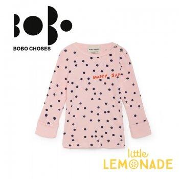 【BOBO CHOSES】12ヶ月から24ヶ月 ベビーサイズ ピンク コンフェッティ柄 長袖シャツ(218163) AW SALE