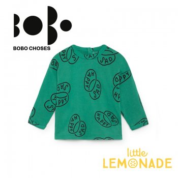 【BOBO CHOSES】12ヶ月から24ヶ月 ハッピーサッド ベビー長袖シャツ(218166) AW SALE