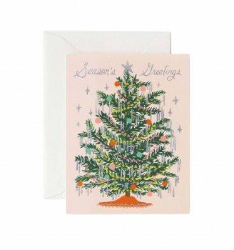【RIFLE PAPER ライフルペーパー】クリスマス カード /シャイニングツリー(GCX049)