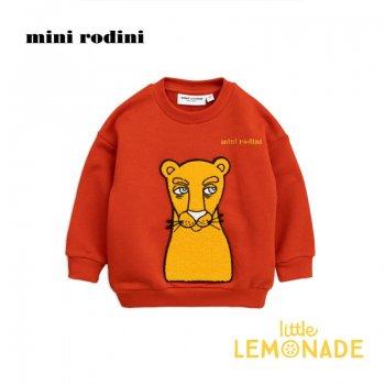 【Mini Rodini】プーマ 赤の長袖トレーナー 【3-5歳/5-7歳】 Cat patch sweatshirt  AW SALE
