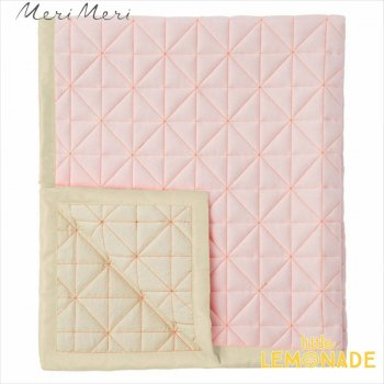 【Meri Meri】ピンク キルティング フロアマット プレイマット  おくるみ Canvas Floor Mat Coral(167581)