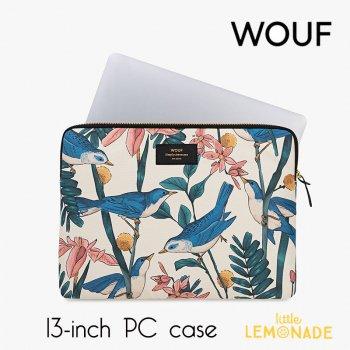 【WOUF】13インチ PCケース 【Birdies】 鳥 パソコン用スリーブ(WOOUF!) (S180008)