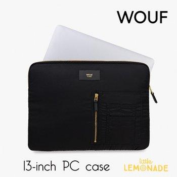 【WOUF】13インチ PCケース 【Black Bomber】 撥水 ナイロン パソコン用スリーブ(WOOUF!) (SM180002)