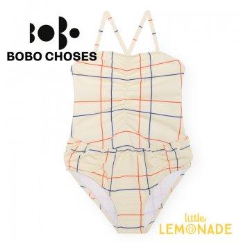 【BOBO CHOSES】ワンピース水着  Lines Swimsuit  【24-36M(92cm) 】 スウィムスーツ  119135 SS SALE