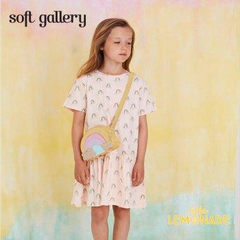 【Soft gallery】 レインボー デザイン ワンピース 【4歳/6歳/8歳】 rainbow print 半袖  子供服 (550-037-791)  SS SALE YKZ