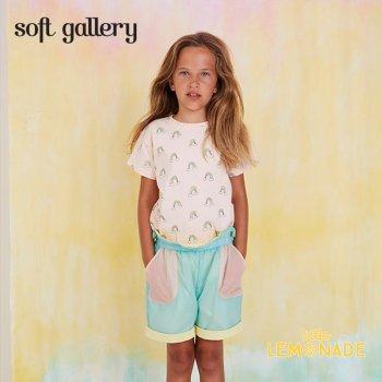 【Soft gallery】 トリコロールカラー ショートパンツ 【4歳/6歳/8歳】 ハーフパンツ tricolor SHORTS DEA   (558-389-000) SS SALE