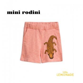 【Mini Rodini】 クロコダイル ショートパンツ 【1.5-3歳/3-5歳/5-7歳】 CROCO SWEATSHORTS/pink (1923013928) SS SALE