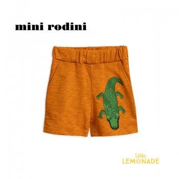 【Mini Rodini】 クロコダイル ショートパンツ 【1.5-3歳/3-5歳/5-7歳】 CROCO SWEATSHORTS/brown (1923013916) SS SALE