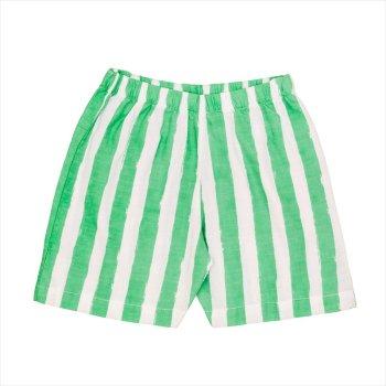【Noe & Zoe】ストライプ ショートパンツ 【6歳】Green stripes・Blue gingham バミューダ (S19042) SS SALE YKZ