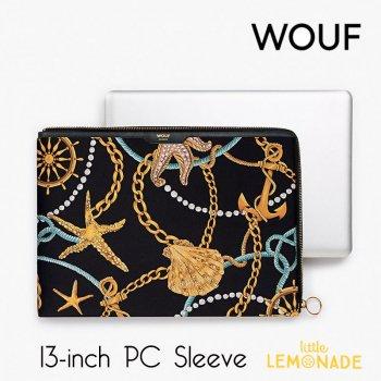 【WOUF】13インチ PCケース 【Sailor】サテン生地 パソコン用スリーブ Macbook Pro 13inch PC Sleeve WOOUF!(SA190002)