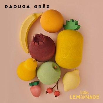 【Raduga Grez】 フルーツ 9個セット 果物 ロシア製 積み木 木製 おもちゃ 自然 おままごと 【Fruits set】 RG02004