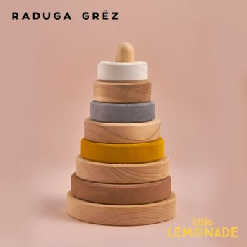 【Raduga Grez】 パステル スタッキングタワー ロシア製 積み木 木製 おもちゃ【Sand stacking tower】 RG04002