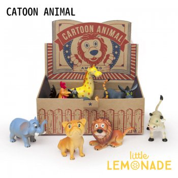 動物フィギュア 12個セット/CARTOON ANIMAL【amabro】 【キッズ toy おもちゃ フィギュア オブジェ アニマル 動物 キッズトイ】 リトルレモネード code_0931