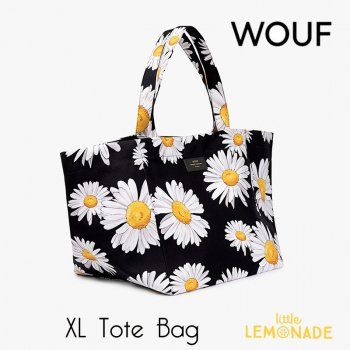 【WOUF】 【Daisy Tote Bag】 デイジー 白い花 プールバッグ サマーバッグ レジャーバッグ 女性向けバッグ  (HXL190004)