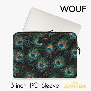 【WOUF】  13インチ PCケース 【Peacock】  クジャク 孔雀 ピーコック パソコン用スリーブ Macbook Pro 13inch  (S190011)