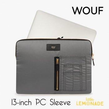 【WOUF】 13インチ PCケース【Grey Bomber】 撥水 ナイロン パソコン用スリーブ パソコンケース (SM190007)