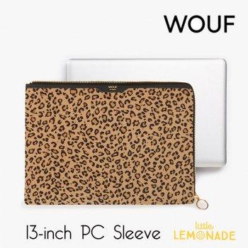 【WOUF】 13インチ PCケース【Safari】 パソコン用スリーブ レオパード ヒョウ柄 豹 アニマル ハラコ フェイクファー  パソコンケース  (SA190005)