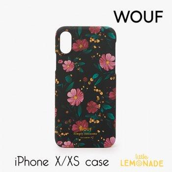 【WOUF】 iPhone X/XS 兼用ケース 【Black Flowers】 花柄 フラワー おしゃれ スマホケース iphone ケース カバー  (ICX190001)