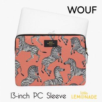【WOUF】 13インチ PCケース 【Zebra】 パソコン用スリーブ パソコンケース ゼブラ シマウマ  (S200002)
