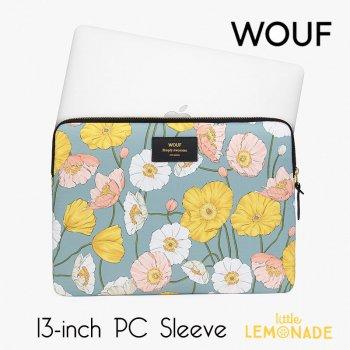 【WOUF】 13インチ PCケース【Alicia】  WOUF】【パソコン用スリーブ パソコンケース アリシア ポピー 花  (S200004)