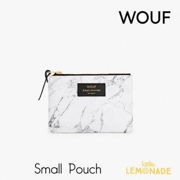 【WOUF】 スモールポーチ 【White Marble】大理石柄 ホワイト 白 大理石 マーブル おしゃれ  ミニポーチ 小物入れ  (MS170008)