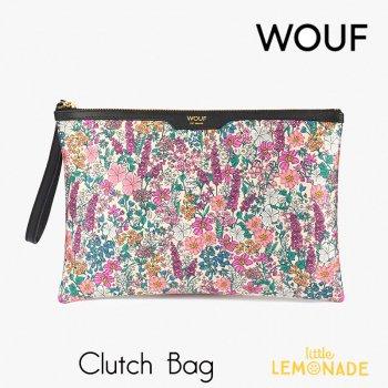 【WOUF】 クラッチバッグ Emmy サテン生地 小花柄  セカンドバッグ Clutch Bag バッグ  (CNA200001)