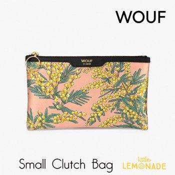 【WOUF】 スモール クラッチバッグ Mimosa サテン生地 ミモザ  セカンドバッグ Clutch Bag バッグ  (MSA200002)