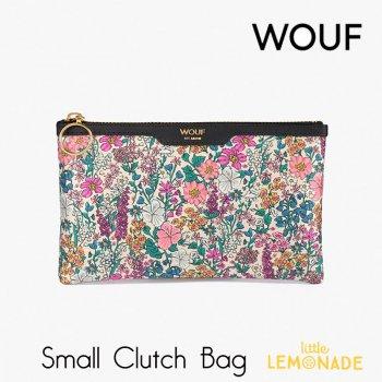【WOUF】 スモール クラッチバッグ Emmy サテン生地 小花柄  セカンドバッグ Clutch Bag バッグ  (MSA200001)