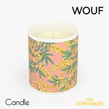 【WOUF】フレグランス キャンドル mimosa (ミモザの香り) Vegetable Wax Candle