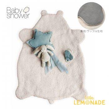【BABYSHOWER】 TEDDY BABYPLAID ベビープレイマット スペイン製 ワッフル生地 オーガニックコットン