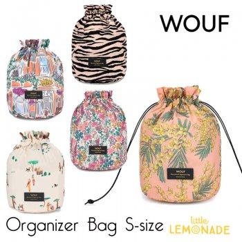 【WOUF】収納バッグ スモールサイズ リサイクル素材   mimosa / market / soft tiger / emmy 巾着 (OS20000)