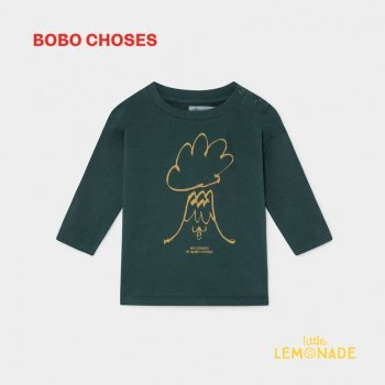 【BOBO CHOSES】VOLCANO 長袖Tシャツ【12M/24M/36M】 LONG SLEEVE T-SHIRT   ボボショーズAW SALE