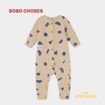 【BOBO CHOSES】 ALL OVER STUFF JUMPSUIT 幾何学デザインジャンプスーツ 12M/24M/36M  カバーオール 2019AW SALE