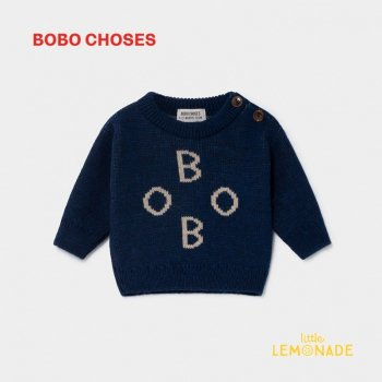 【BOBO CHOSES】 BOBO JACQUARD JUMPER ボボ ジャカード 12M/18M/36M ベビー服  ボボショーズ AW SALE